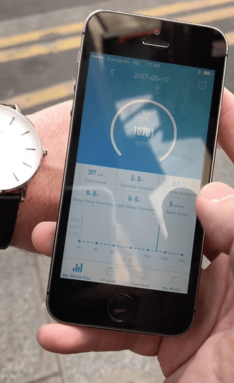 The NOWA watch is an activity tracker with a user friendly Bluetooth link