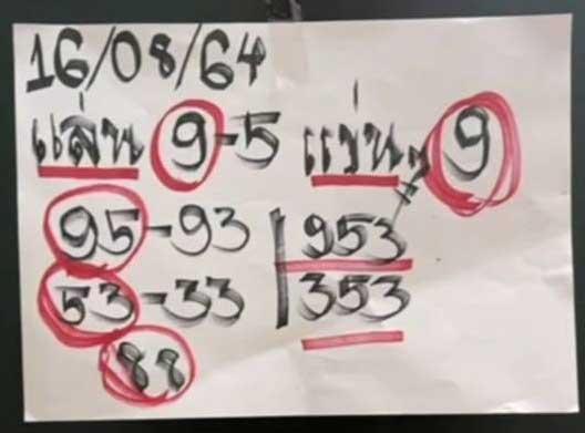 """เลขเด็ดงวดนี้ 16/08/64 Nowbet Asia เว็บหวย ระดับเอเชีย เลขเด็ด """"แม่น้ำหนึ่ง"""" ให้แนวทาง 353 95 53 88 9"""