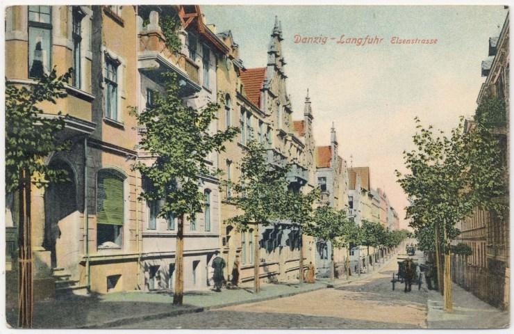Ulica Grażyny przed wojną. Źródło: facebook.com/Cukiernia-Paradowski