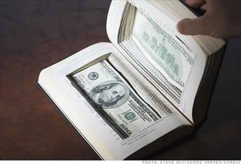 Escape room puzzle idea: money hidden in a book