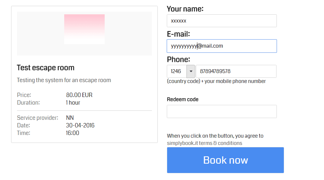 When a customer selects the date and the time, the system doesn't show how many slots are available.