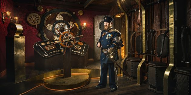 One of the most successful Claustrophobia escape rooms is Steampunk: The Airship.