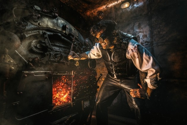 "Advertising for Sarquest, ""Steampunk Locomotive,"" escape room"