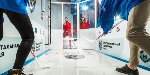 Claustrophobia's Battle on the Ice tests players' hockey skills.