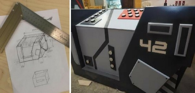 Before and after escape room prop