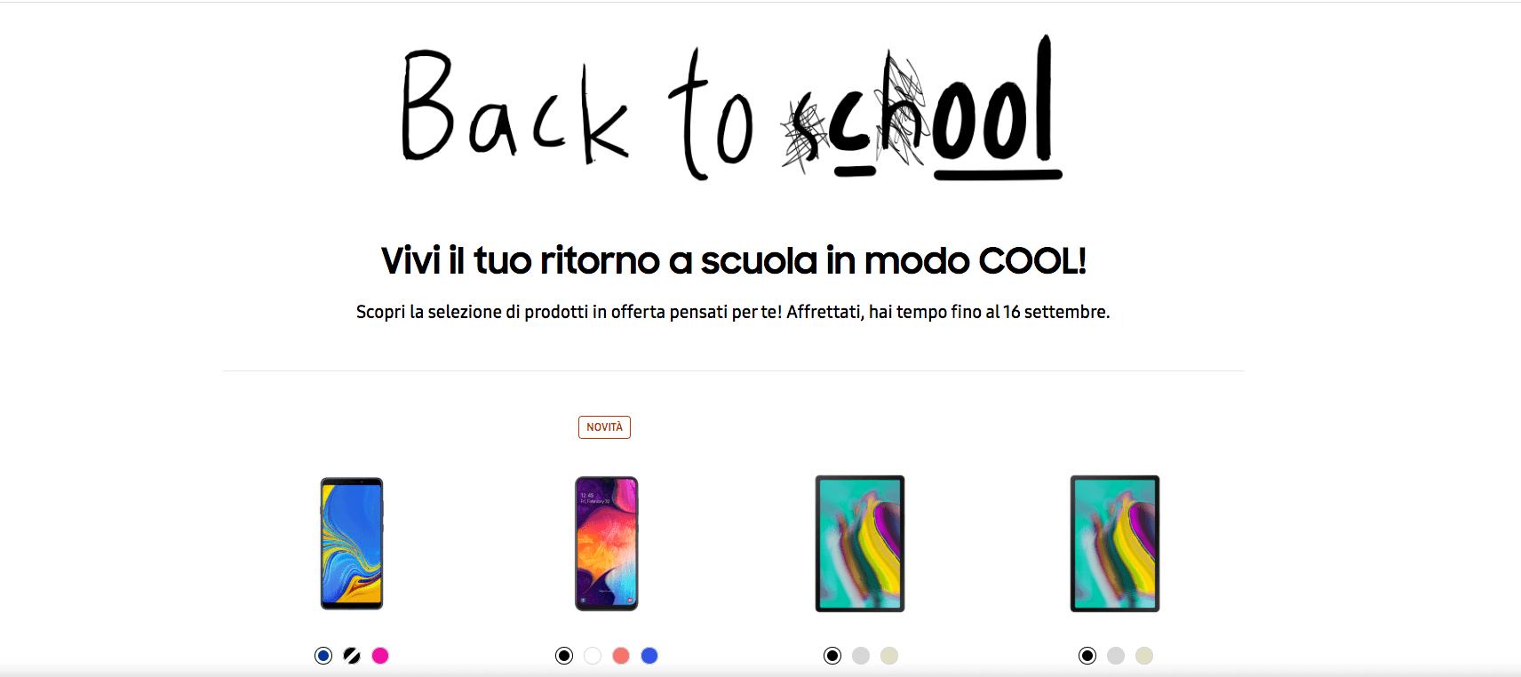 """Samsung """"Back to (S)c(h)ool"""": il ritorno a scuola non è mai stato così cool"""