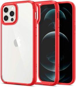 Spigen Cover Ultra Hybrid Compatibile con iPhone 12 Compatibile con iPhone 12 PRO - Rosso