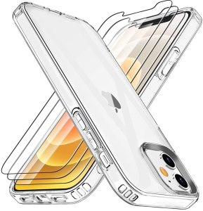 Losvick Cover Compatibile con iPhone 6.1 Pollice 12 e 12 PRO - Trasparente