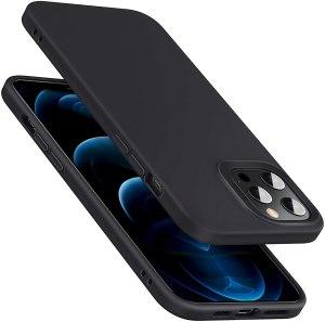 ESR Cover Compatibile con iPhone 6.1 Pollice 12 e 12 PRO, Serie Cloud Silicone Cover, Nero