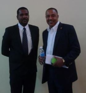 Min Dabreo and Chairman o CARCIP national steering Committee Steve George