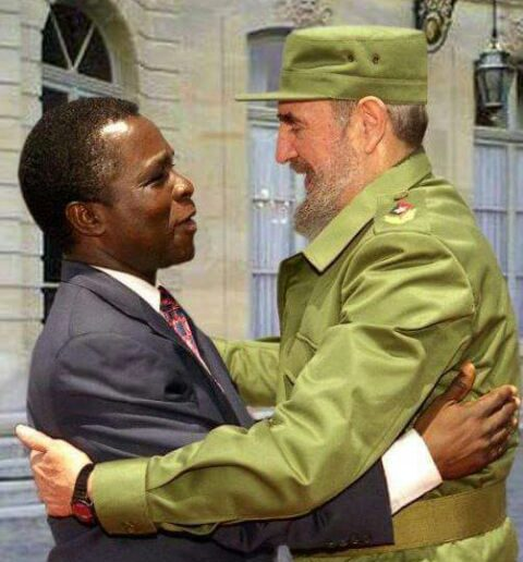 Fidel Castro with Prime Minister Mitchell