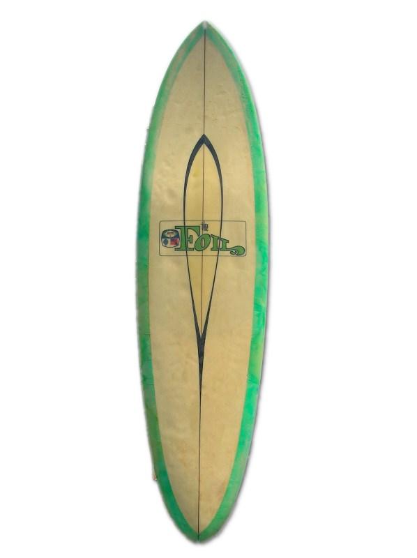 green surfboard