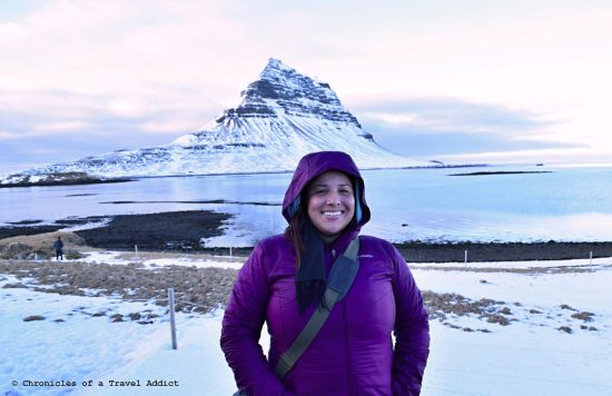 Cristina Luisa on the road in Iceland