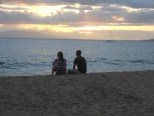 Sitting with my brother on the beach