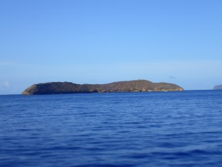 Molokini, a crescent shaped volcanic crater.
