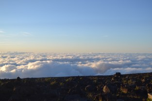 The view from close to the summit of Haleakalā volcano