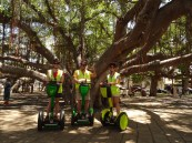 On our Segways in front of the Great Banyan Tree