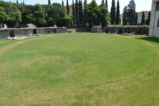 The grounds of the ancient Roman amphitheater