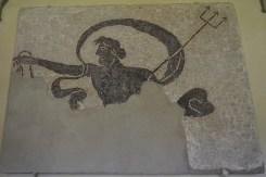 A mural of Neptune