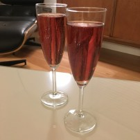 Cheers! Delicious served with Champagne.