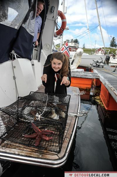 Une pêche fructueuse lors de notre trip en bateau en Norvège