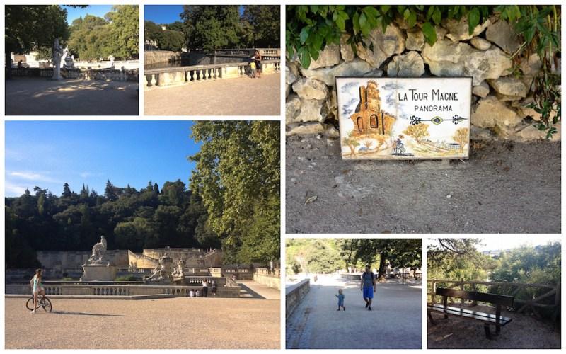 Les Jardins de la Fontaine sont le poumon vert de la ville. Leurs origines remonteraient à l'époque gallo-romaine et on y trouve de nombreux vestiges, comme le Temple de Diane ou la Tour Magne