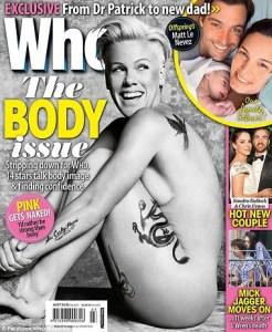 #NowNews : Pink se desnuda en revista