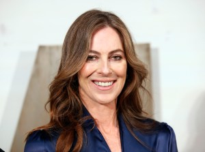 Kathryn Bigelow arrives to the Museum of Modern Art's third annual Film Benefit in New York, Wednesday, Nov. 10, 2010. This year the benefit honored the Academy Award-winning writer and director. (AP Photo/Stuart Ramson)