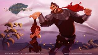 Arya Stark y The Hound