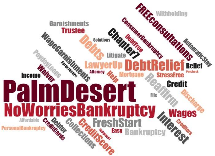 Palm Desert debt relief & wage garnishments