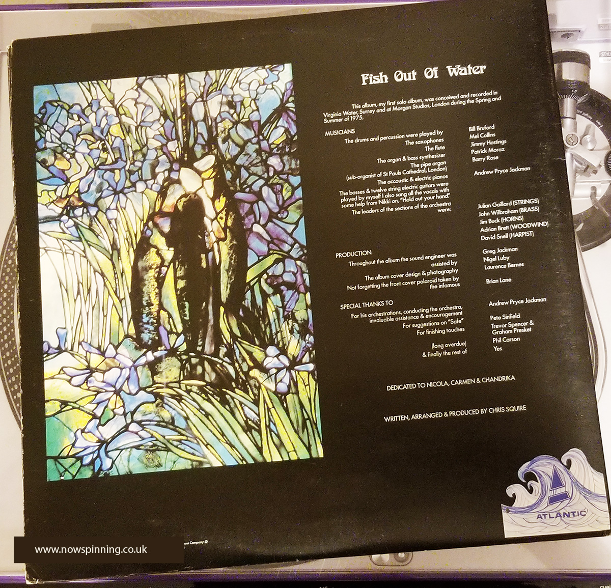 Chris Squire Bass Player with YES - Fish Out of Water back cover