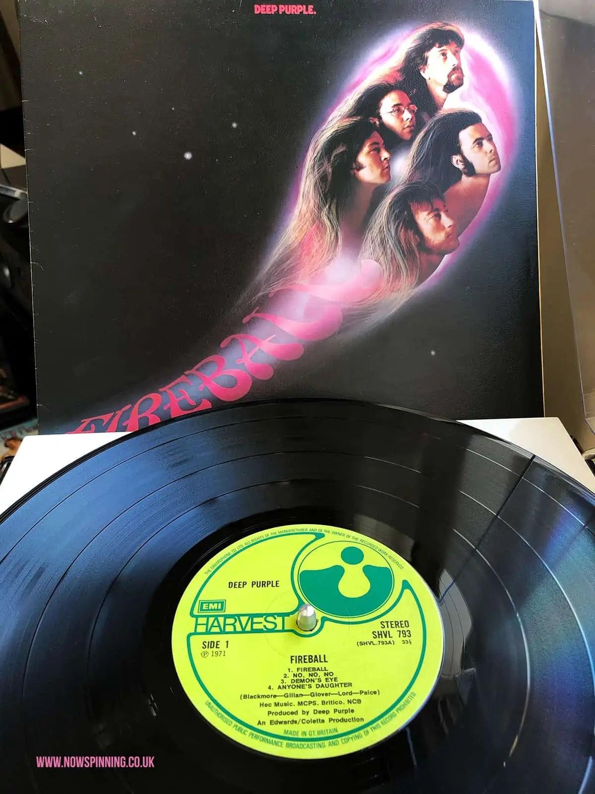 Deep Purple Fireball 1971 UK Vinyl