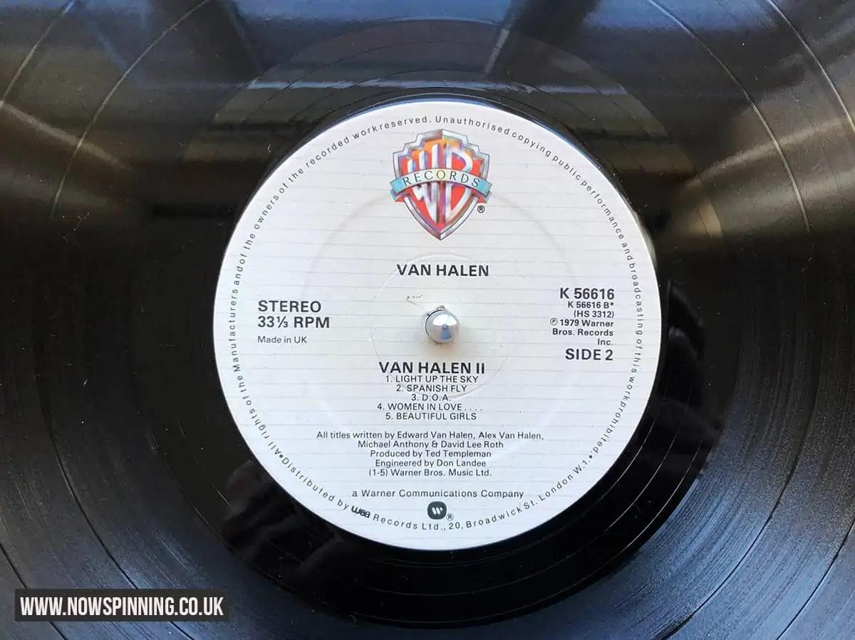 Van Halen 2 Side 2 Vinyl