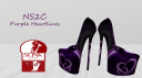 purple heartlines pumps