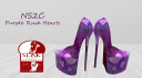 Purple rush hearts pumps