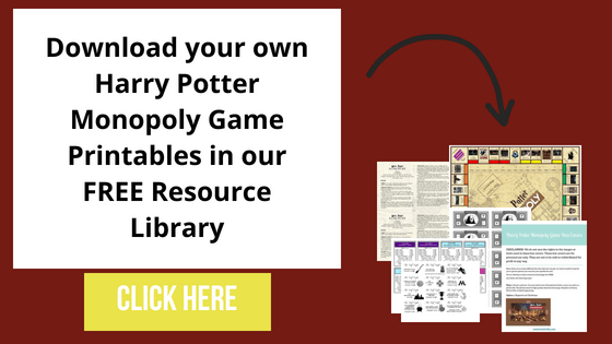 photograph regarding Printable Monopoly Board called Do it yourself Harry Potter Monopoly Match with Cost-free Printables