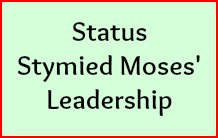 Status stymied Moses leadership.