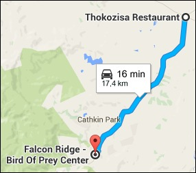 17 kilometres from Thokozisa to Falcon Ridge