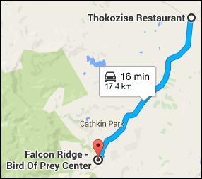 17 kilometres from Thokozisa to Falcon Ridge