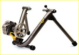 CycleOps indoor bike trainer.