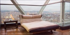 Hotel Arts Barcelona: Your very own oversized sun lounge at the terrace overlooking the city of Barcelona