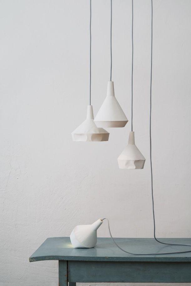 betonowe lampy