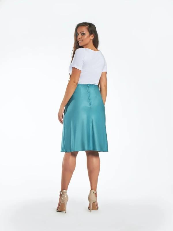 Hecendorfer fashion divatos türkiz térdig érő női szoknyája
