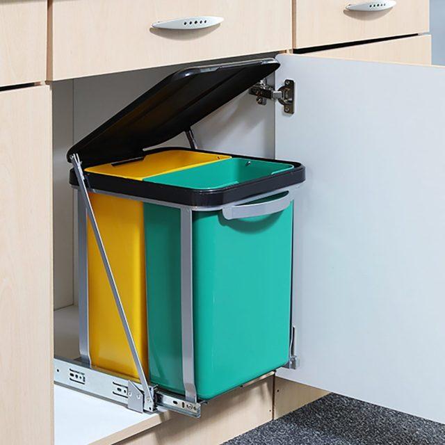 Abfalleimer Küche Schublade Plastik Einbau Bauhaus ...