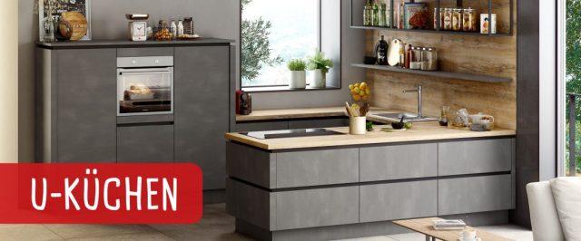 Küche U Form Dachschräge Mit Tisch Modern Theke Kochinsel ...
