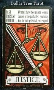 The Dollar Tree Tarot: Justice.