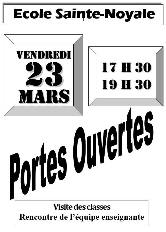 Portes ouvertes école Sainte-Noyale