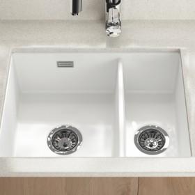 valet 1 5 bowl undermount ceramic sink