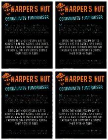 Harper's Hut Benefit Flyer
