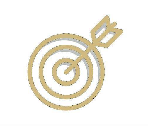 Gold Target Arrow